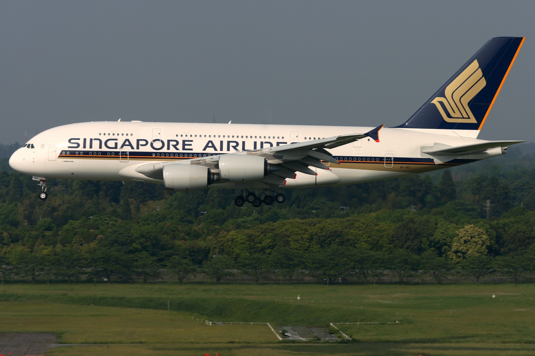 Exterior of Singapore Airlines A380-300 Aircraft