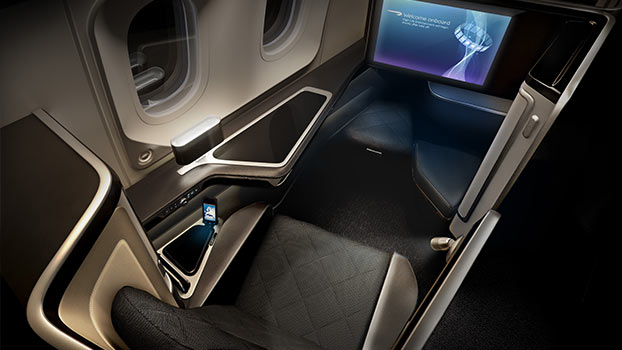 Birds Eye View of British Airways First Class 787 Dreamliner