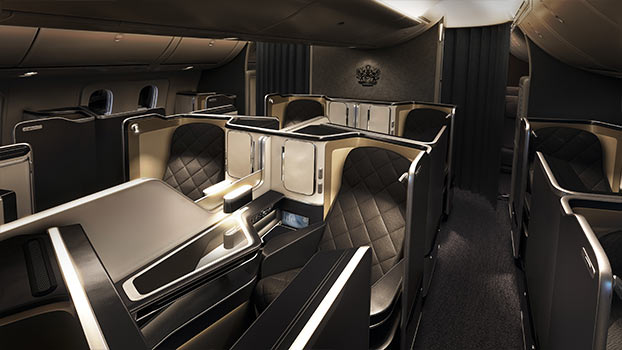 Side view of British Airways First Class 787 Dreamliner