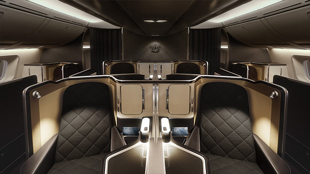 Front View of British Airways First Class