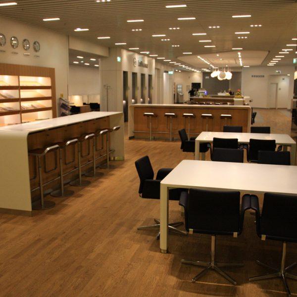 Lufthansa Business Class Lounge for business travel blog
