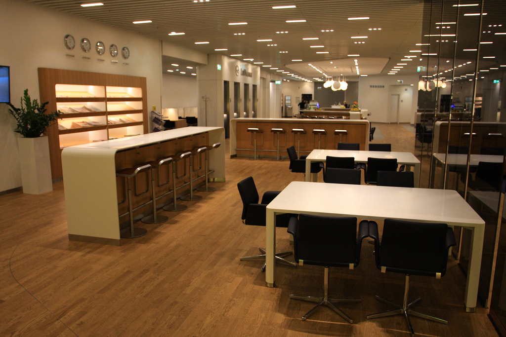 Lufthansa Business Class Lounge for business travel blog