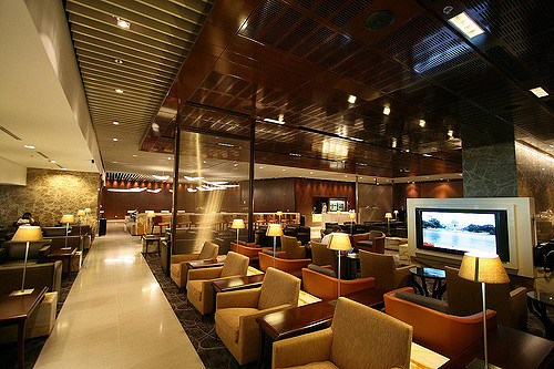 SilverKris Business Lounge in Changi International Airport