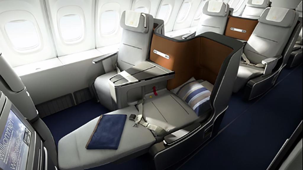 Lufthansa Business Class cabin