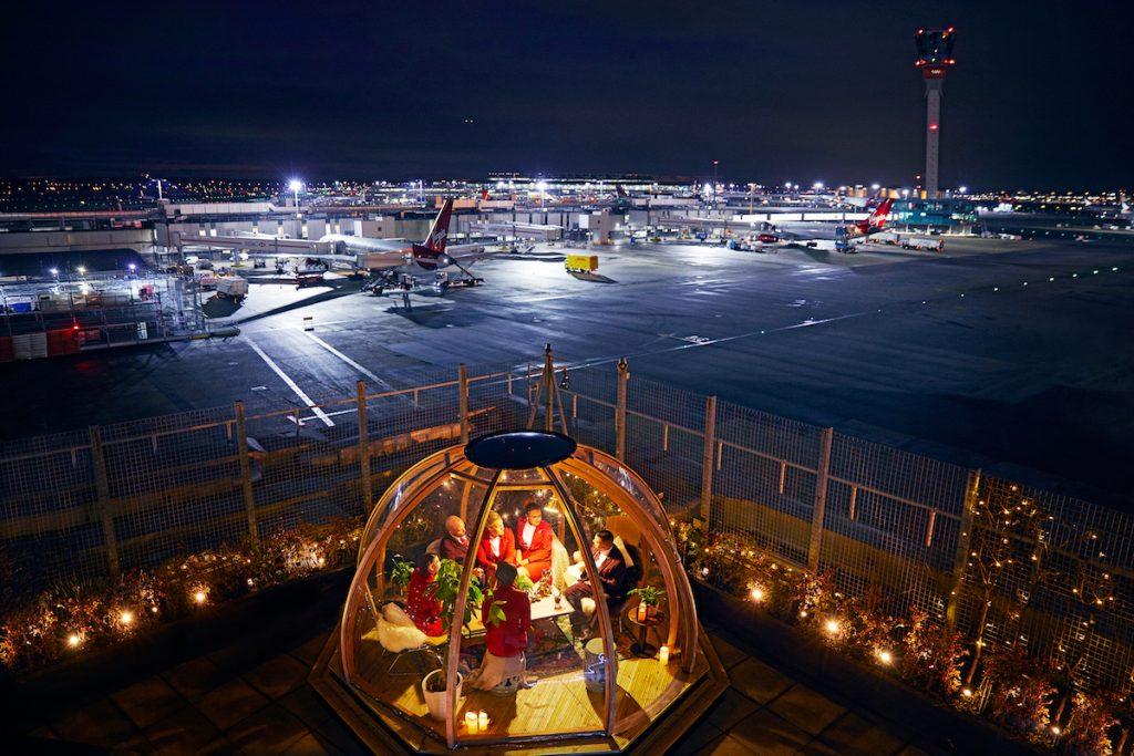 Virgin Atlantic Clubhouse Lounge Igloo at London Heathrow