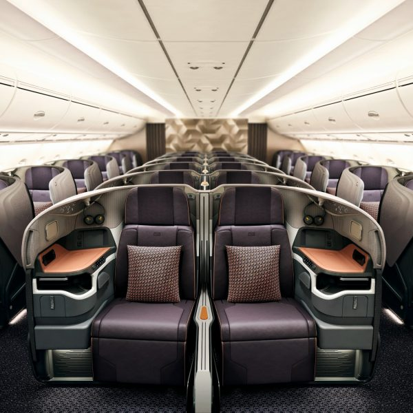 Singapore Airlines Business Class Cabin on board the new A380