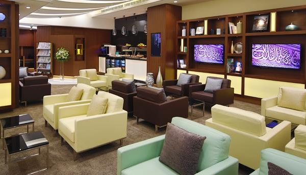 Etihad Business Class Lounge in Abu Dhabi International Airport