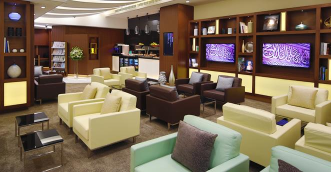 Etihad Business Class Lounge in Abu Dhabi International Airport