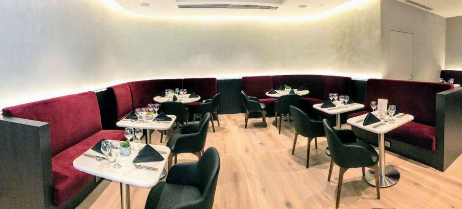 The Boutique Dining room at British Airways lounge San Francisco