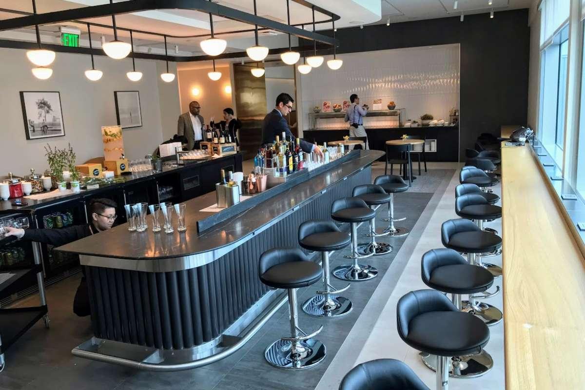 British Airways lounge San Francisco deli bar