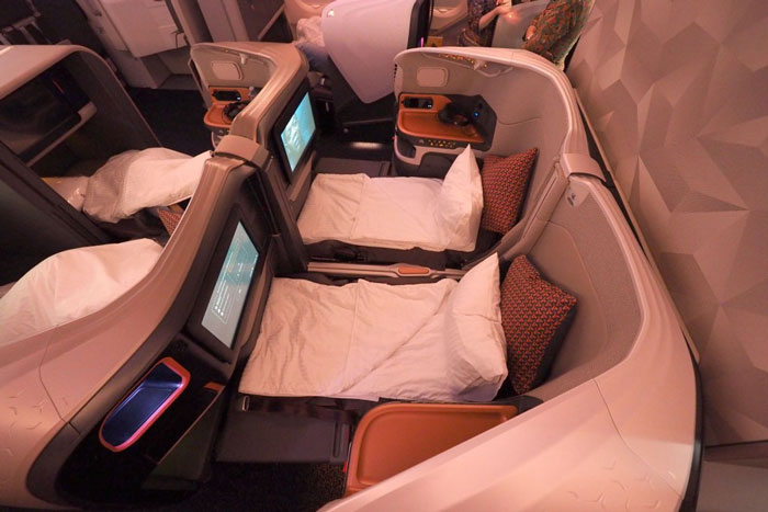Singapore Airline A380 Business Class