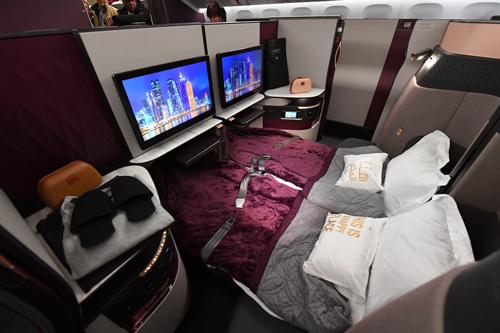 Qatar A350 Qsuite double