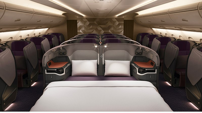 Singapore Airlines new A380 business double