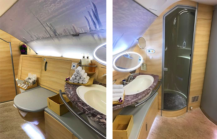Emirates First Class On Board Shower